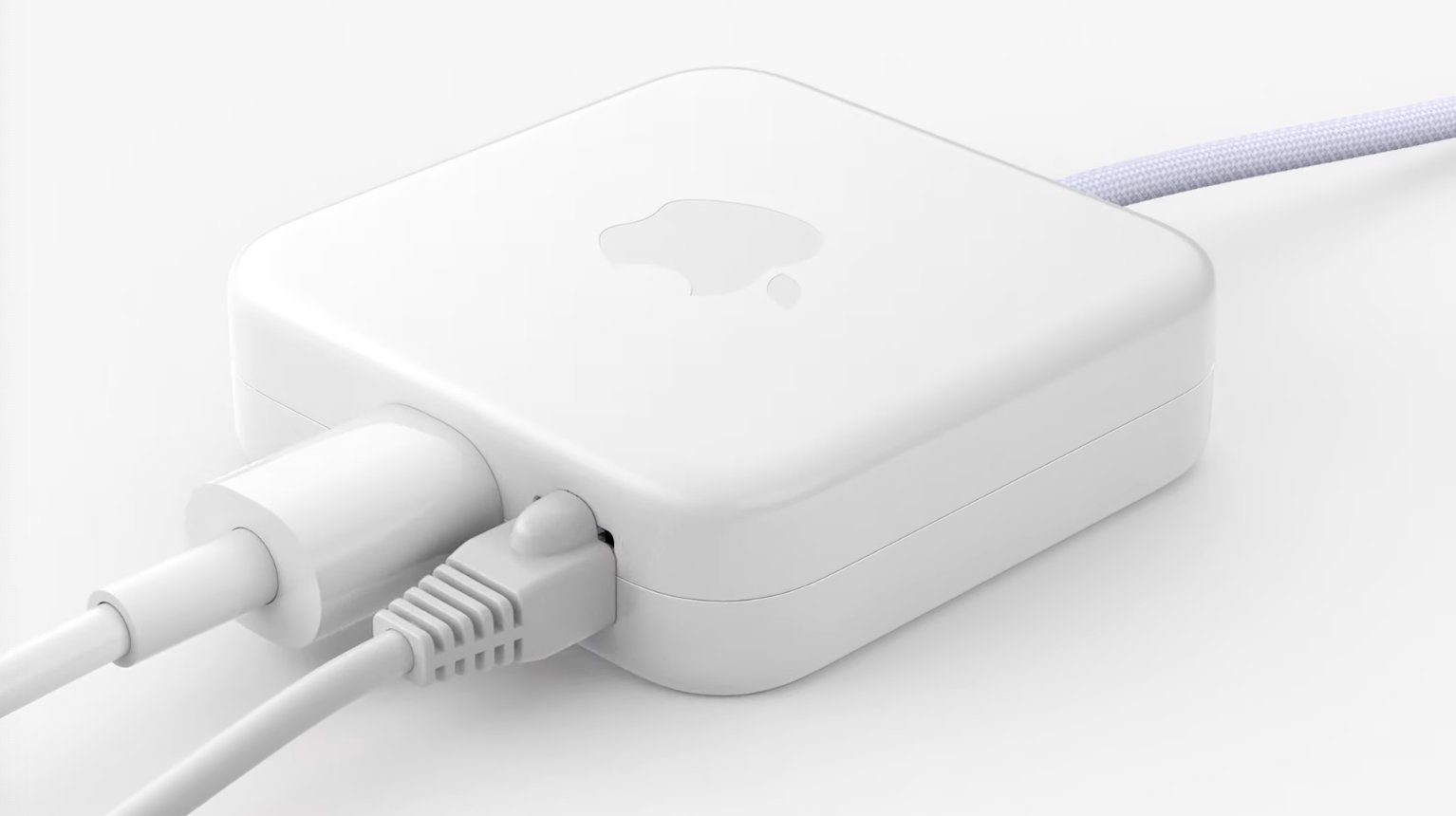 Fuente de alimentación del iMac M1 con puerto Gigabit Ethernet