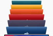 Concepto de diseño de iMac de colores sin barbilla