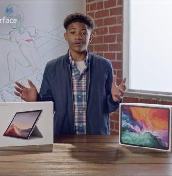 Publicidad comparativa de Microsoft: Surface Pro 7 contra iPad Pro