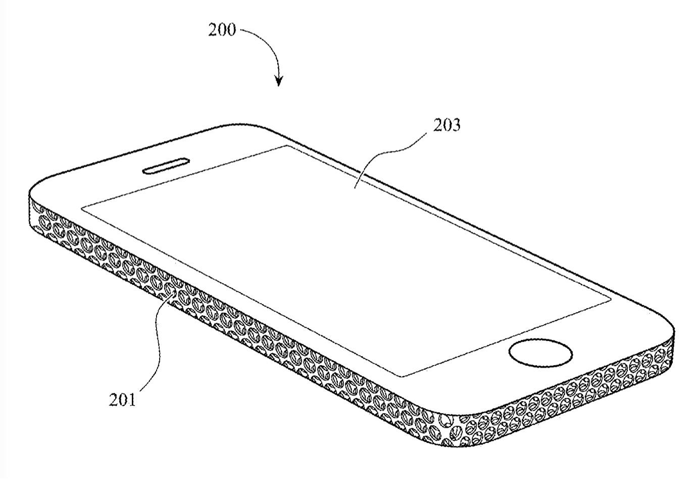 Aluminio con aspecto de rallador de queso en un iPhone