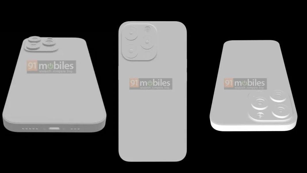 Modelo 3D del supuesto iPhone 13 Pro con cámaras trasera más grandes