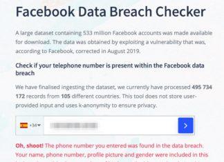 Datos de Facebook filtrados, con un positivo