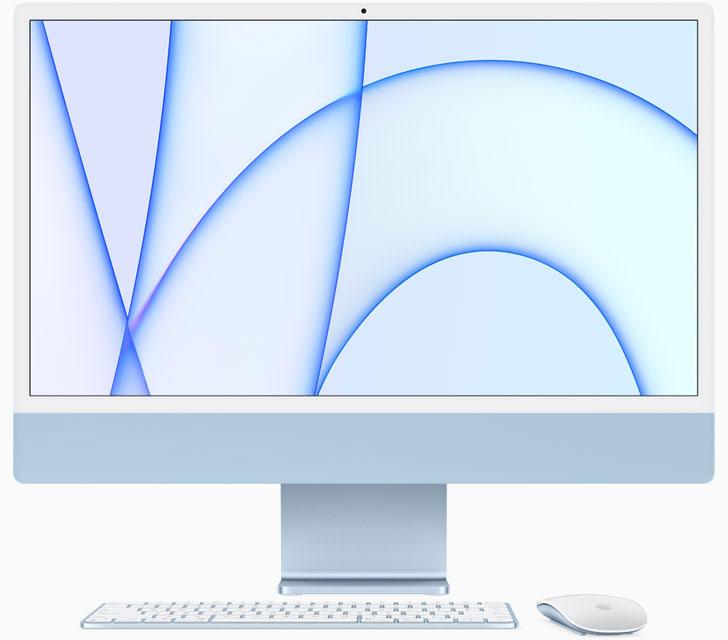 iMac Apple Silicon, azul, con M1, en el 2021