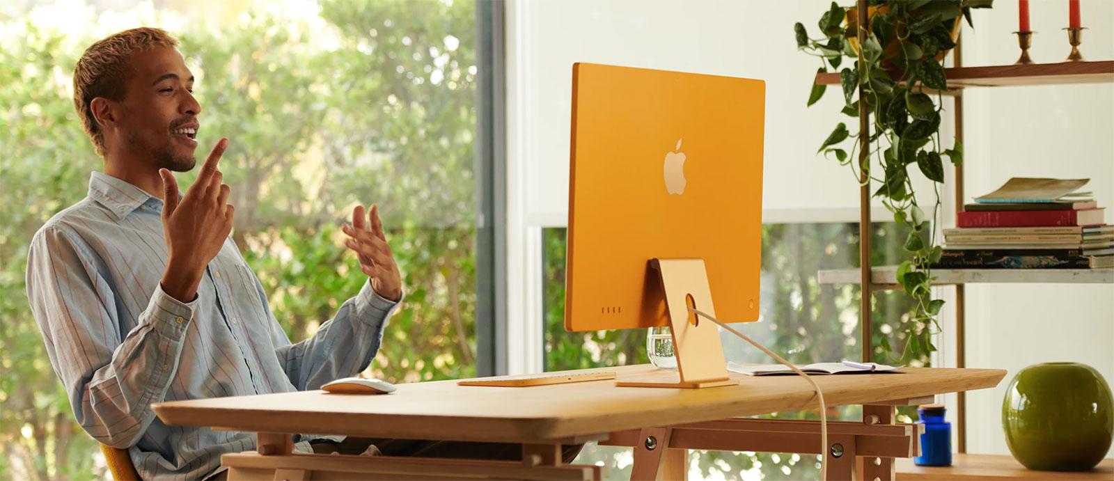 iMac Apple Silicon en amarillo