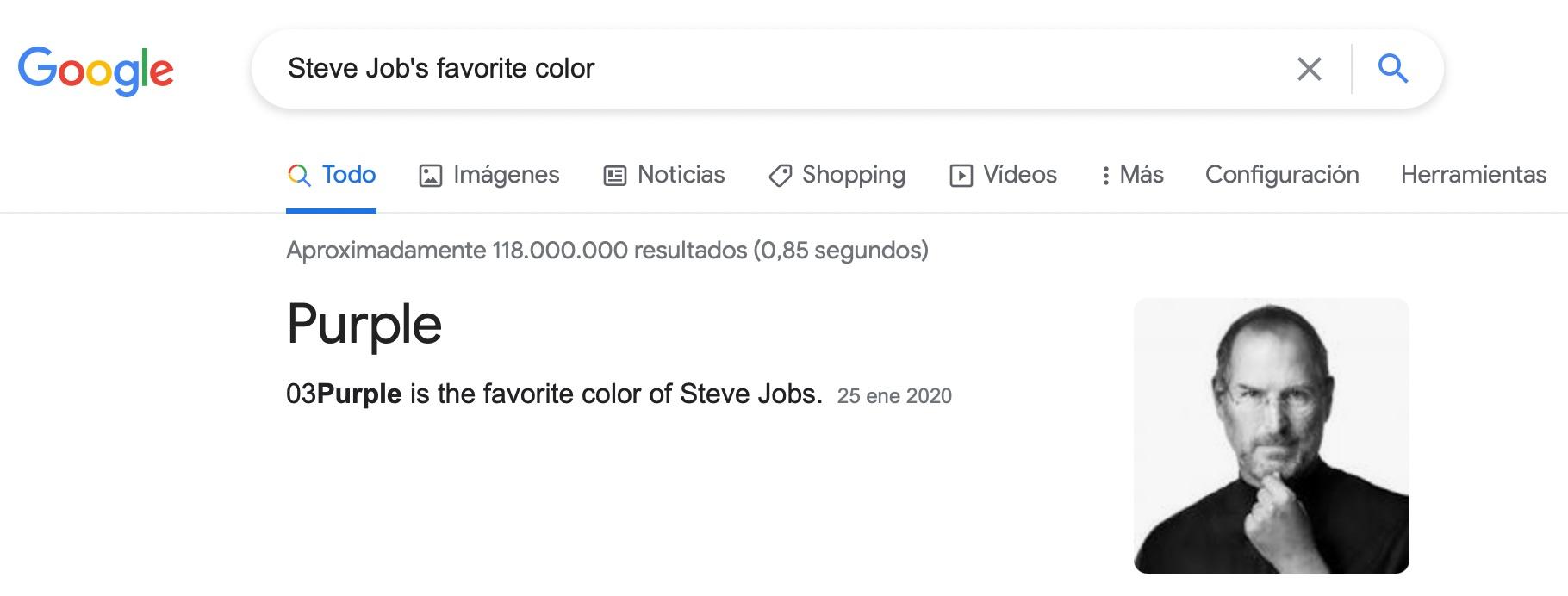 El púrpura es el color favorito de Steve Jobs