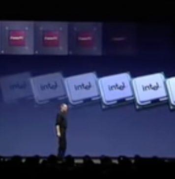Paso de arquitectura PowerPC a x86 de Intel en los Macs, explicado por Steve Jobs