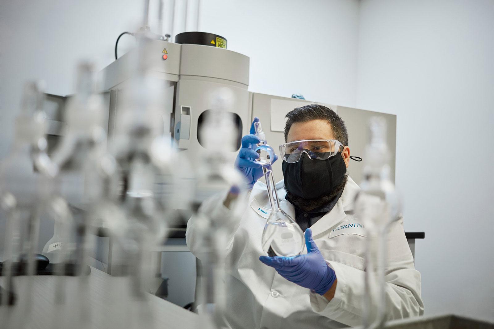 Fábrica de cristal Gorilla de Corning, en Kentuchy, EEUU
