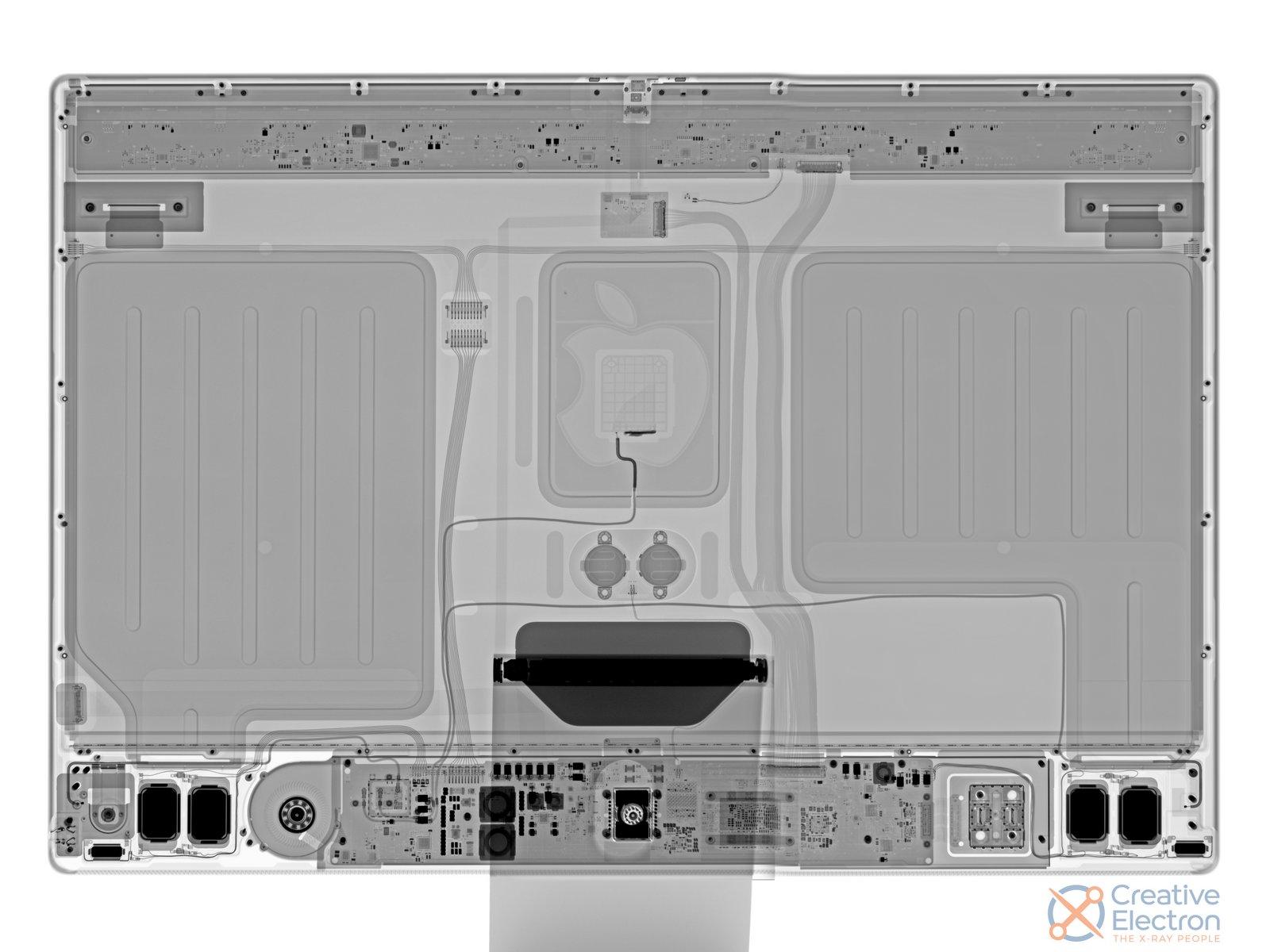iMac con M1 visto a rayos x