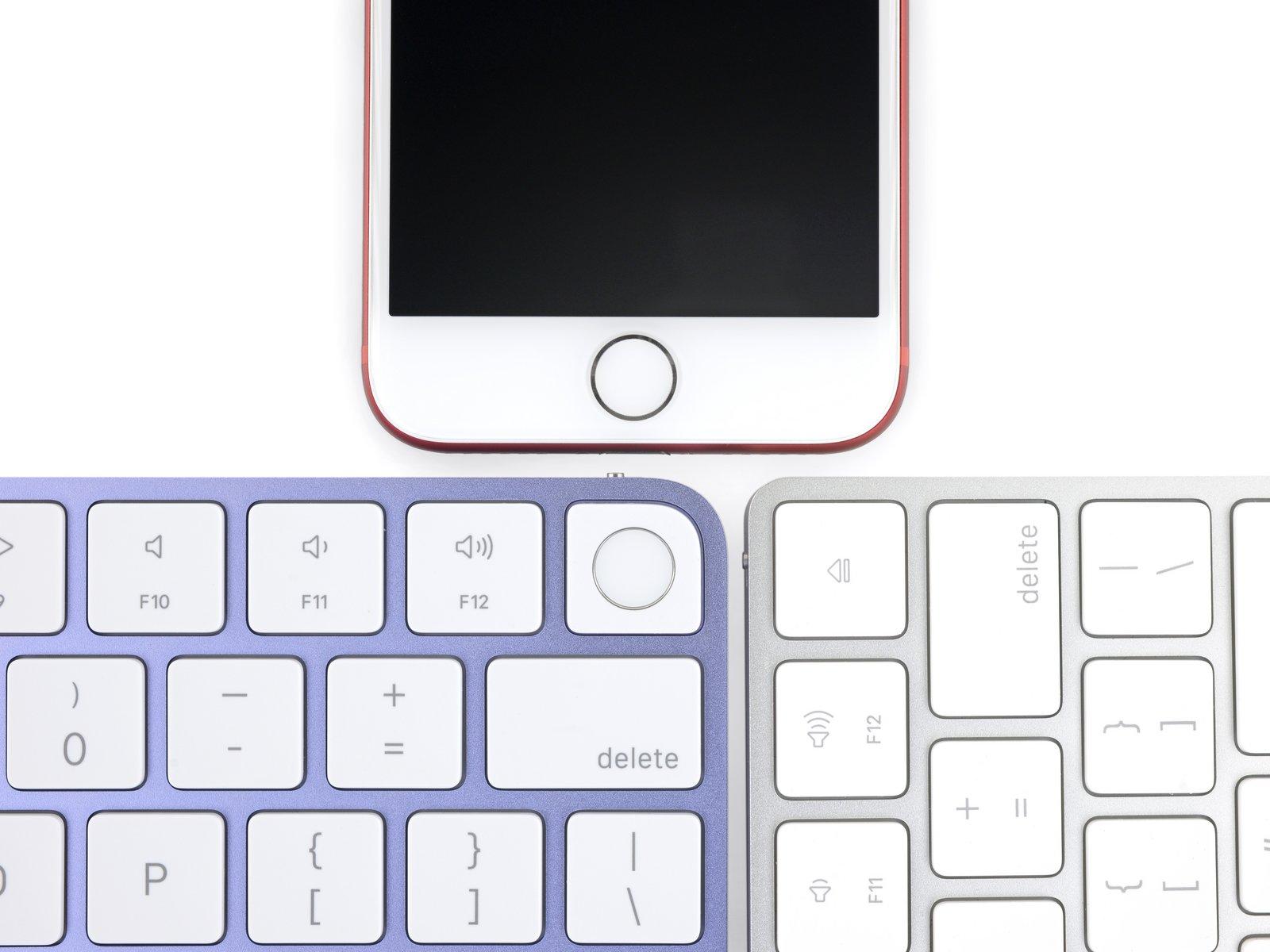 Teclado con Touch ID de un iMac con M1, el mismo botón que el iPhone 7