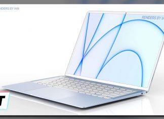 Concepto de diseño de MacBook Air azul
