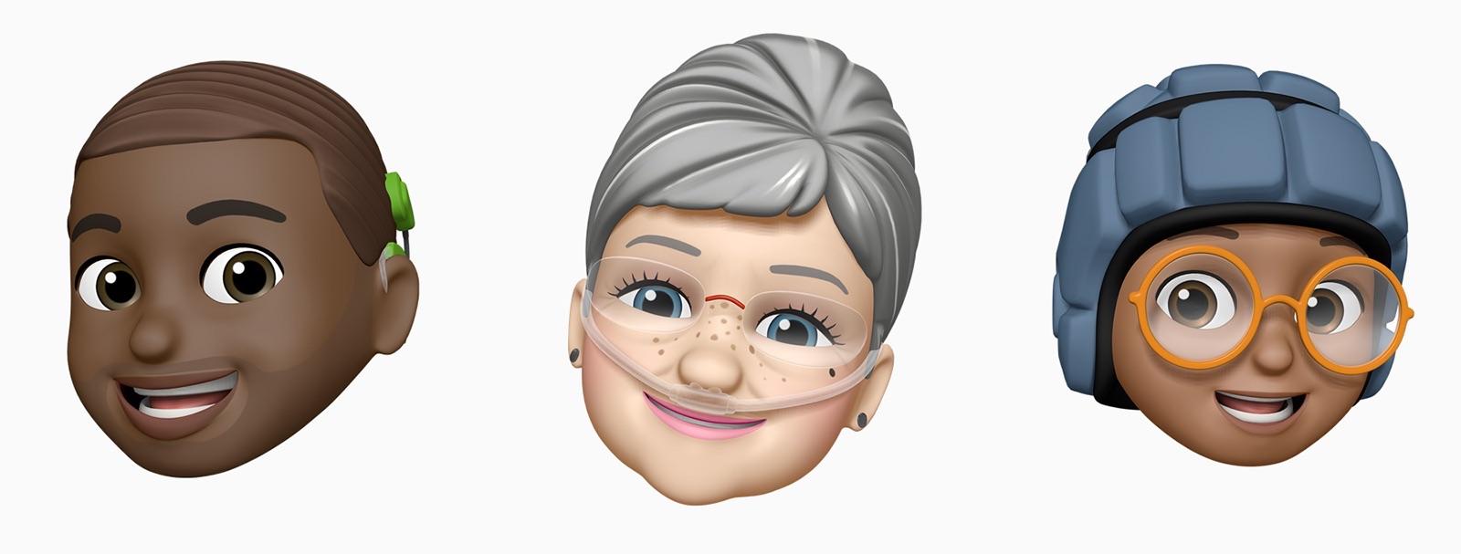 Memojis con gafas o implantes cocleares