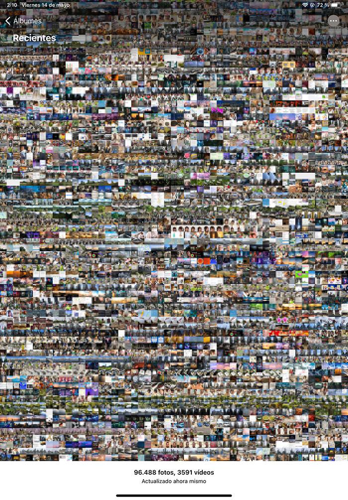 Muchas fotos en la App de Fotos