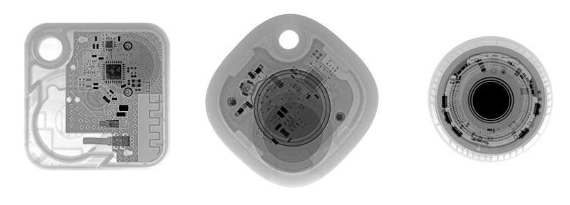 Localizadores Bluetooth y AirTag vistos con Rayos X