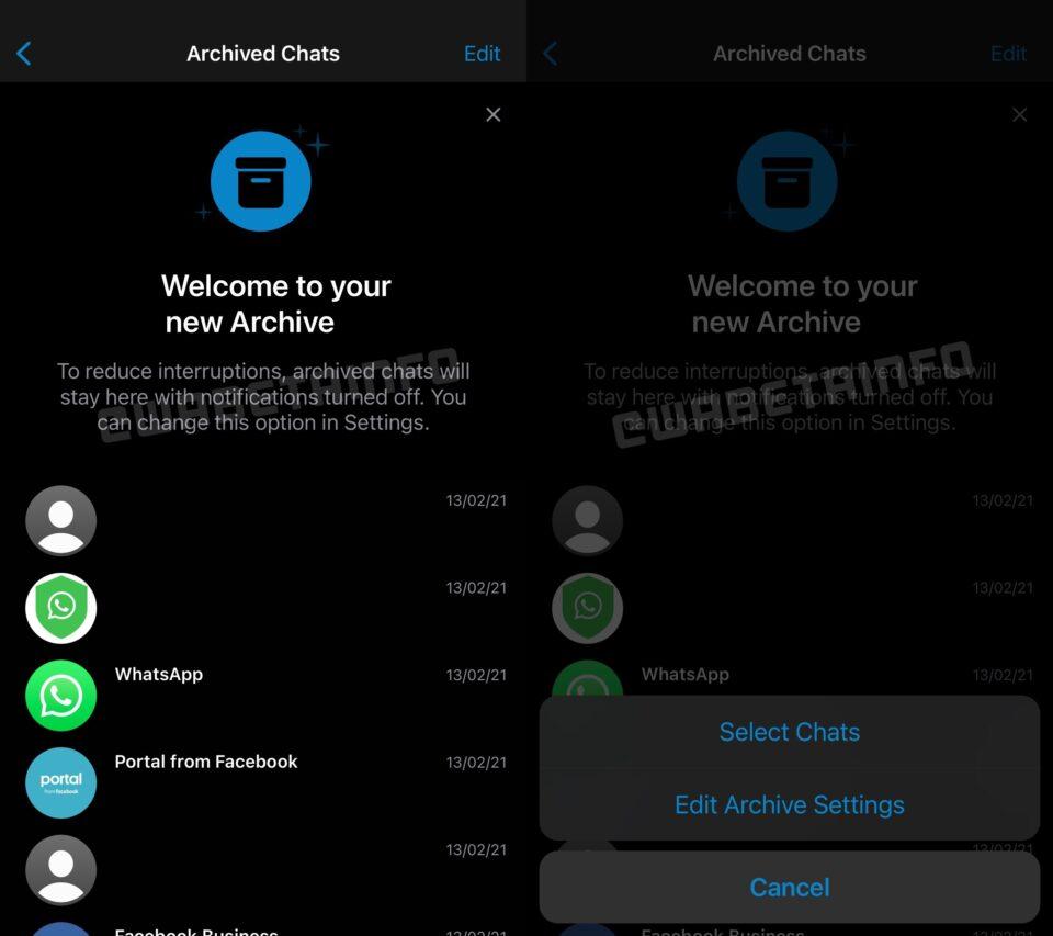 Archivo permanente de chats en WhatsApp