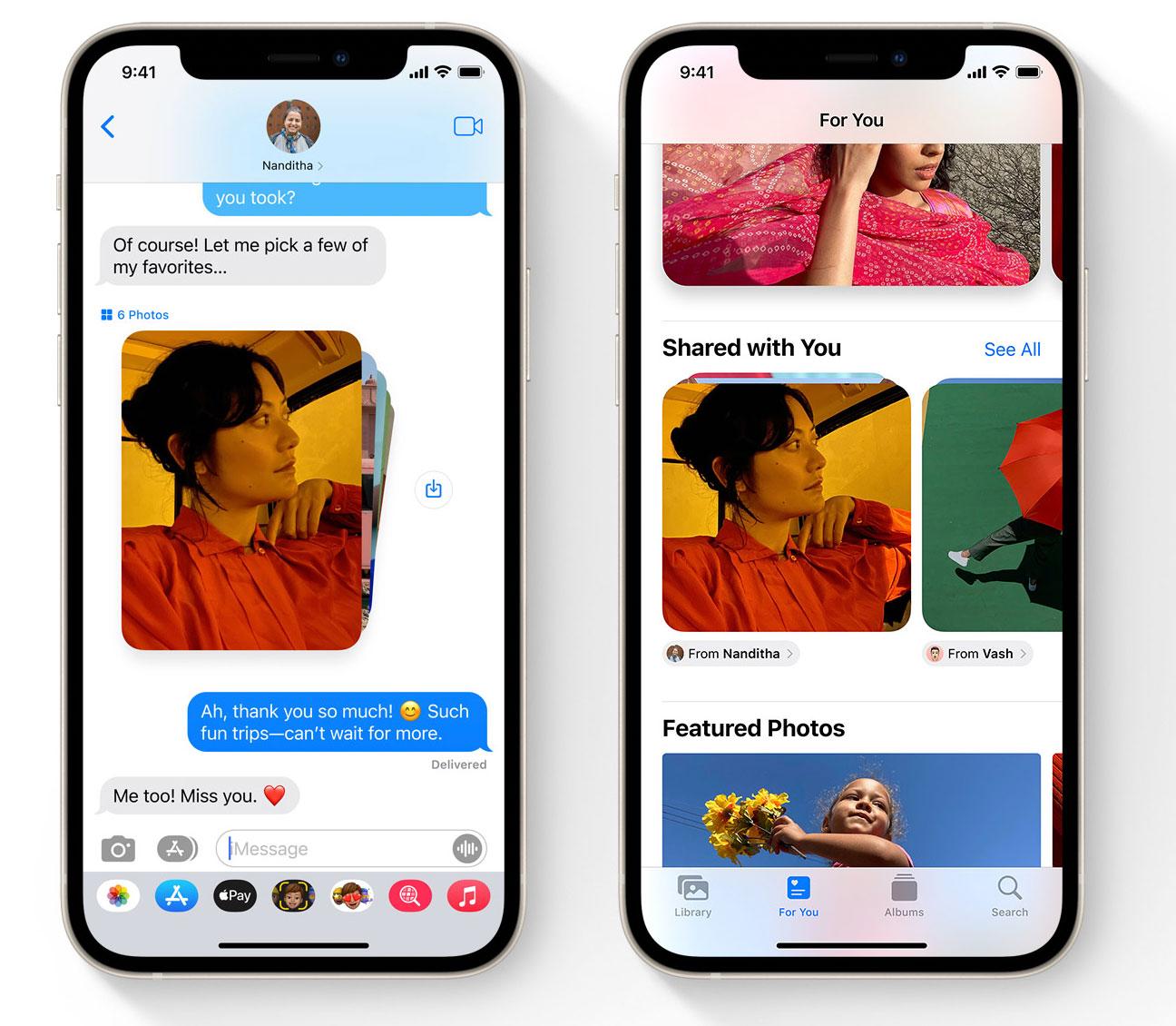 App de Mensajes en iOS 15
