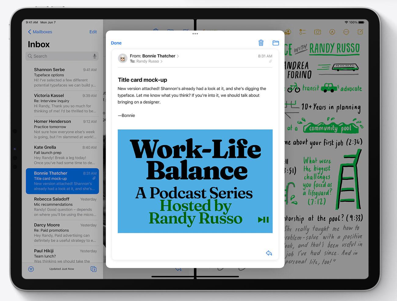 Multitarea en iPadOS 15