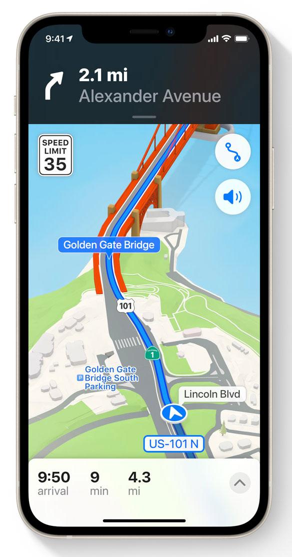Modo conducción en iOS 15
