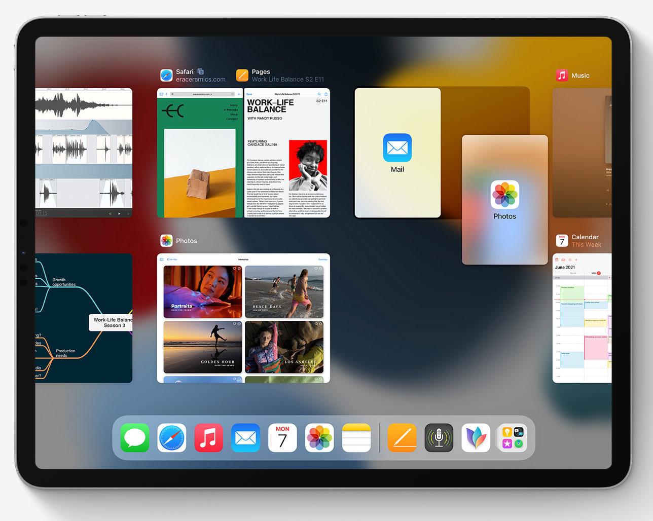 Selector de Apps abiertas recientemente en iPadOS 15