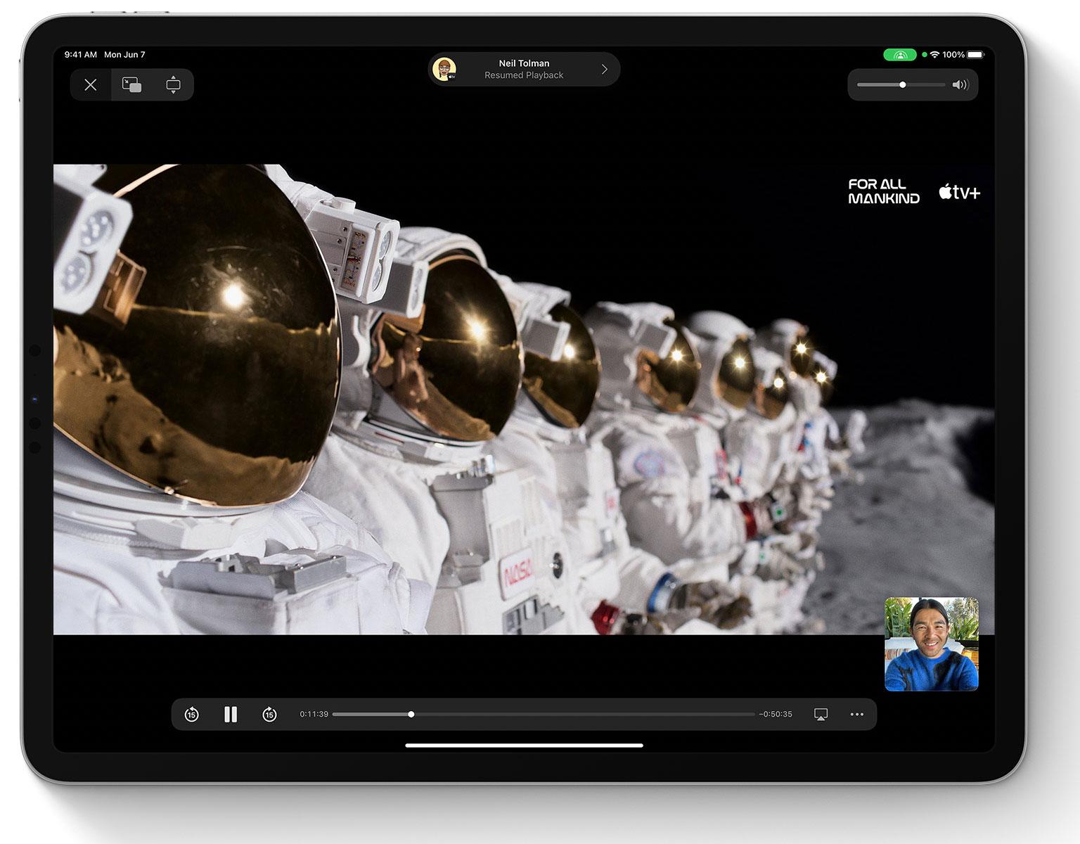 FaceTime en multitarea en iPadOS 15