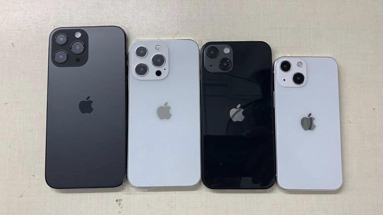 Maquetas de lo que se supone que será el iPhone 13