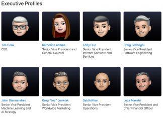 Memojis del equipo directivo de Apple antes de la WWDC 2021