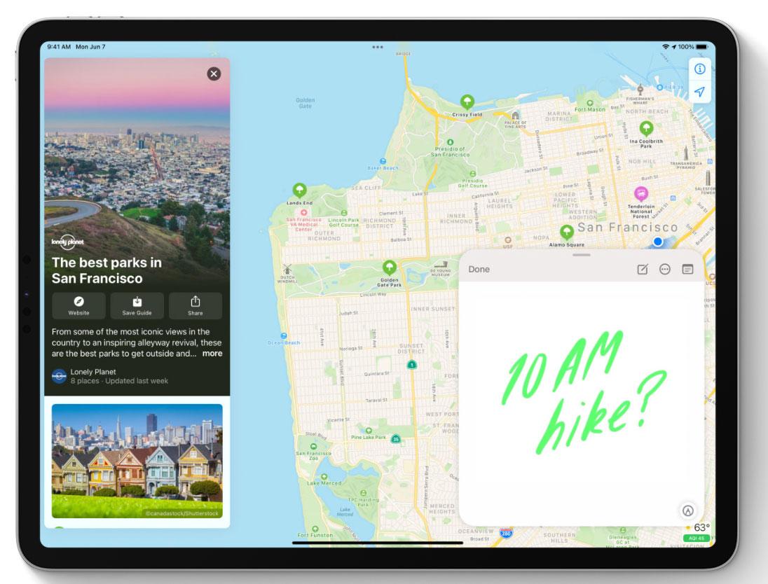 Notas rápidas en iPadOS 15