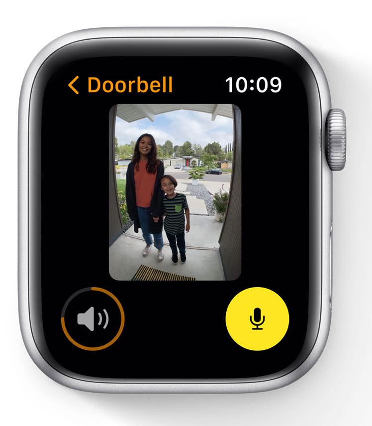 Cámara de seguridad en el Apple Watch