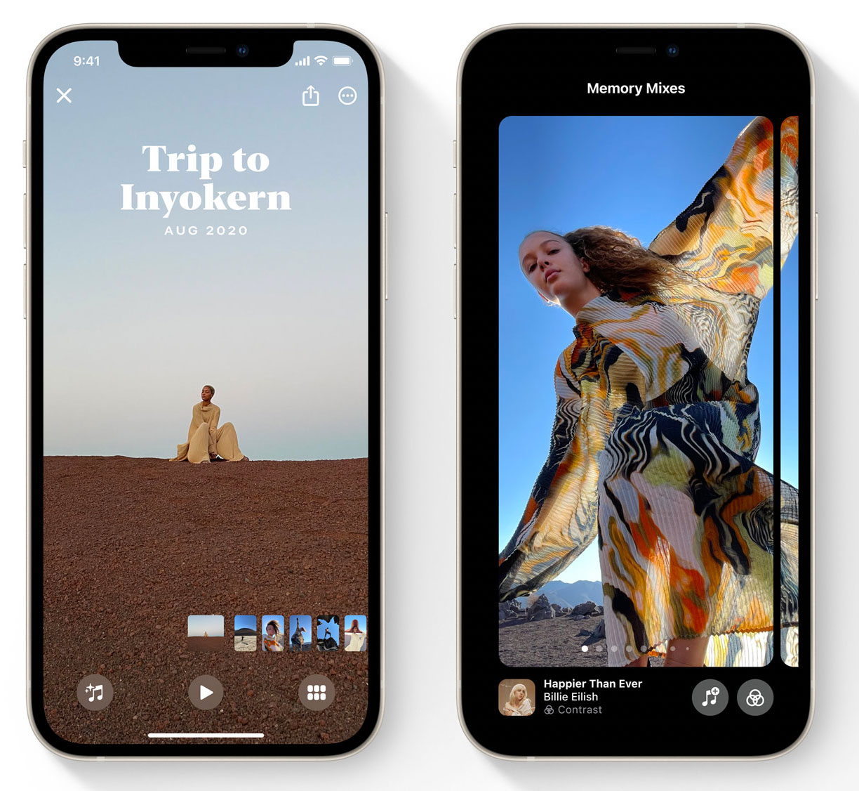 Momentos en la App de Fotos en iOS 15