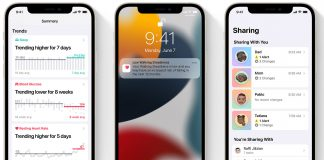 App de Salud en iOS 15