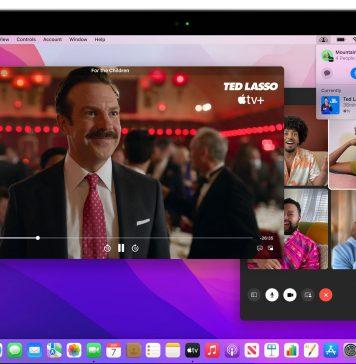 SharePlay en macOS Monterey