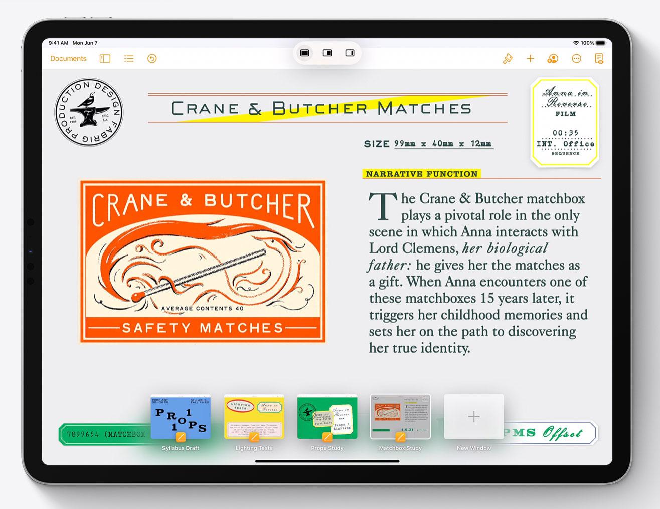 Shelf de ventanas de una misma App