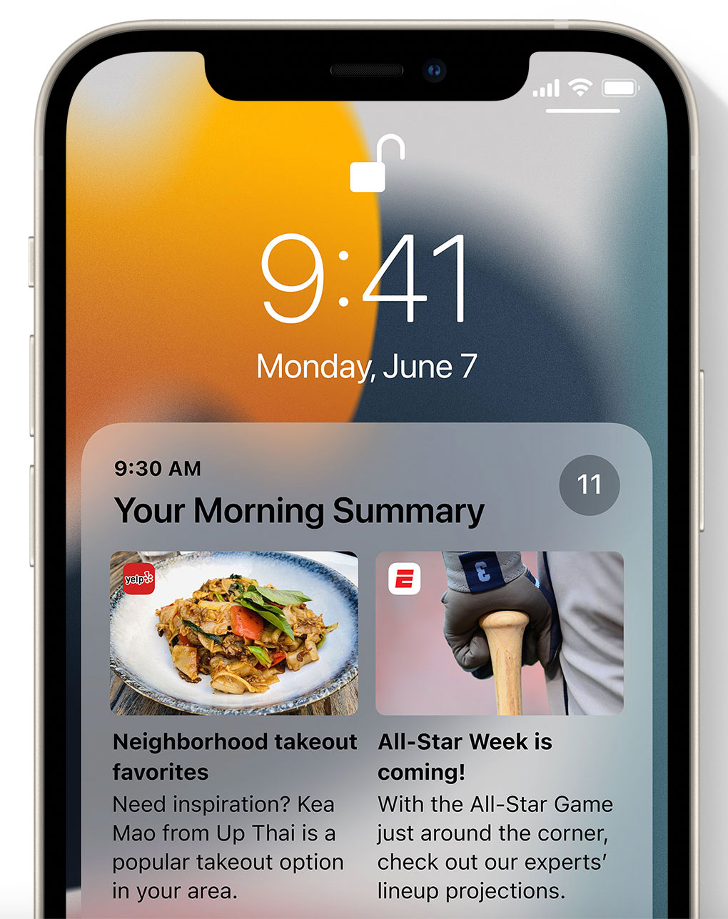 Sumario de notificaciones en iOS 15