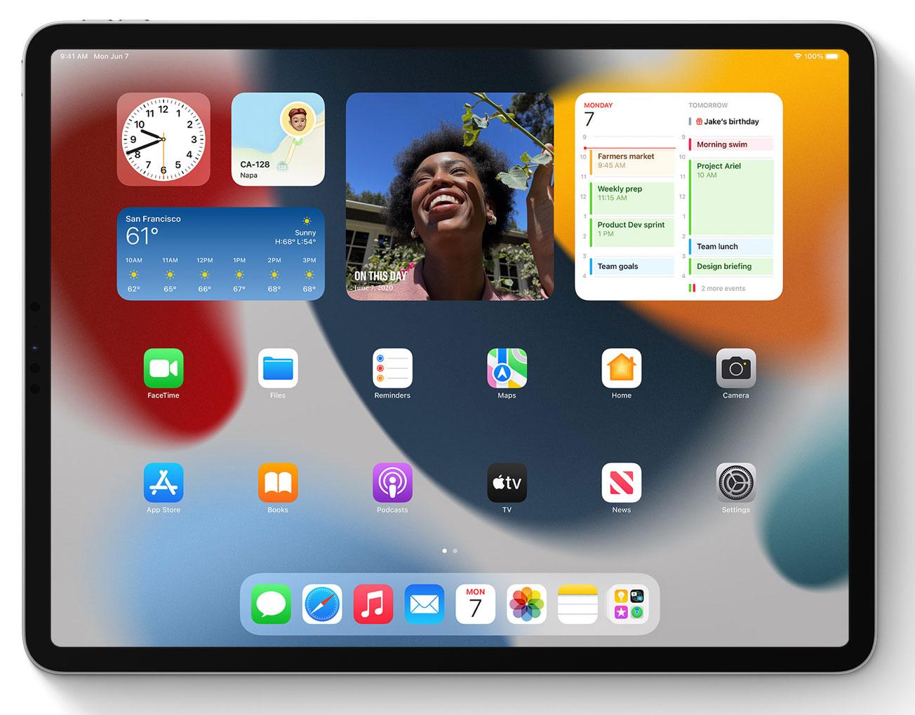 Widgets en iPadOS 15