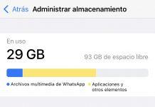 Almacenamiento en WhatsApp