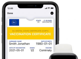 Certificado COVID europeo en el iPhone y Apple Watch