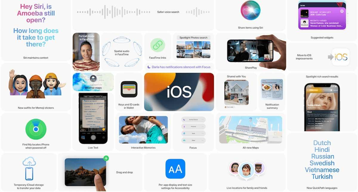 Resumen de novedades de iOS 15