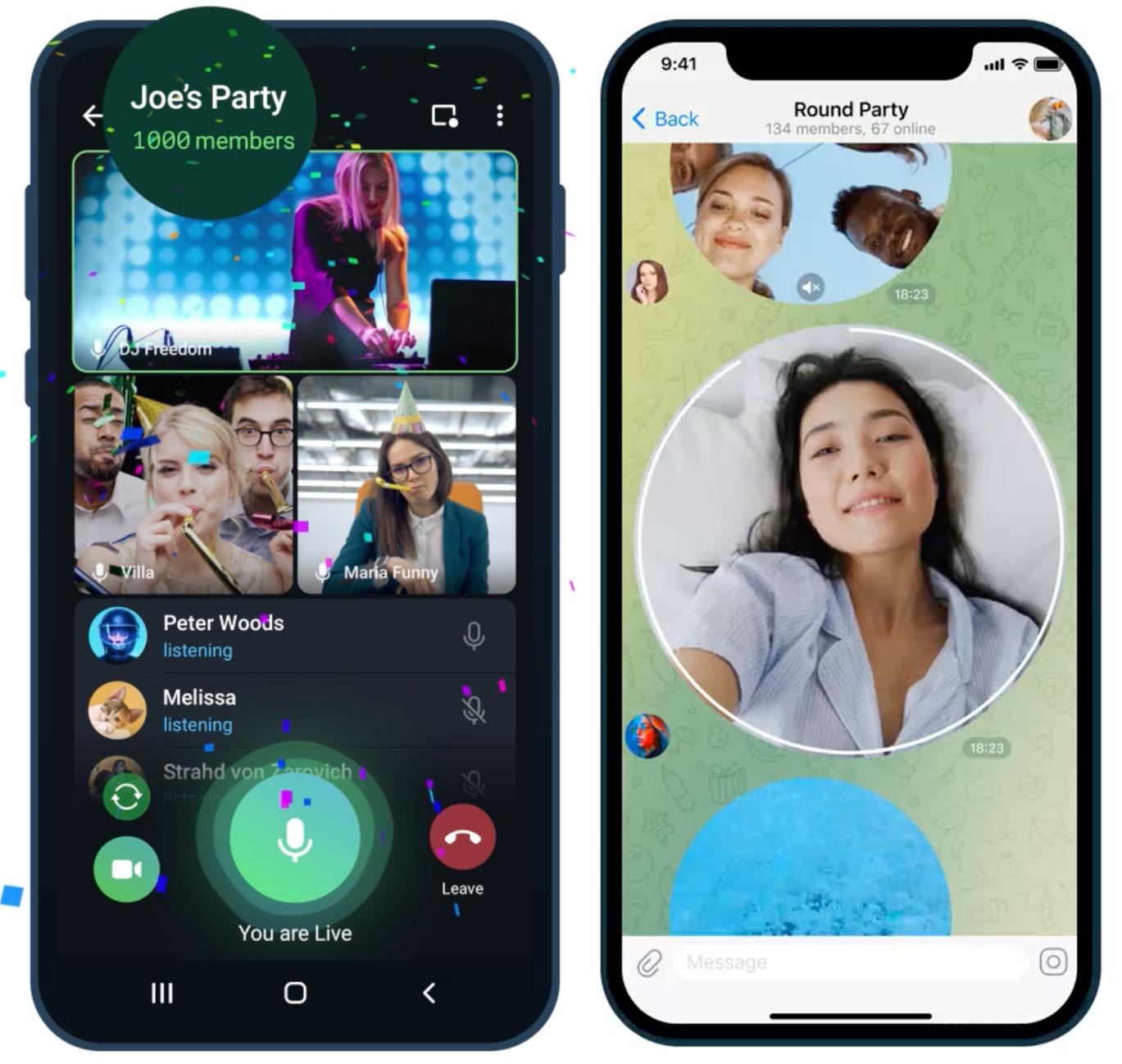 Videollamadas con hasta mil personas en Telegram