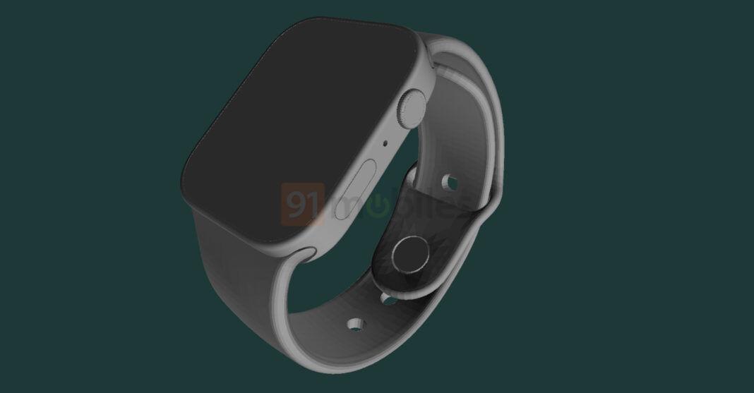 Modelo 3D CAD de lo que se supone que es el Apple Watch Series 7