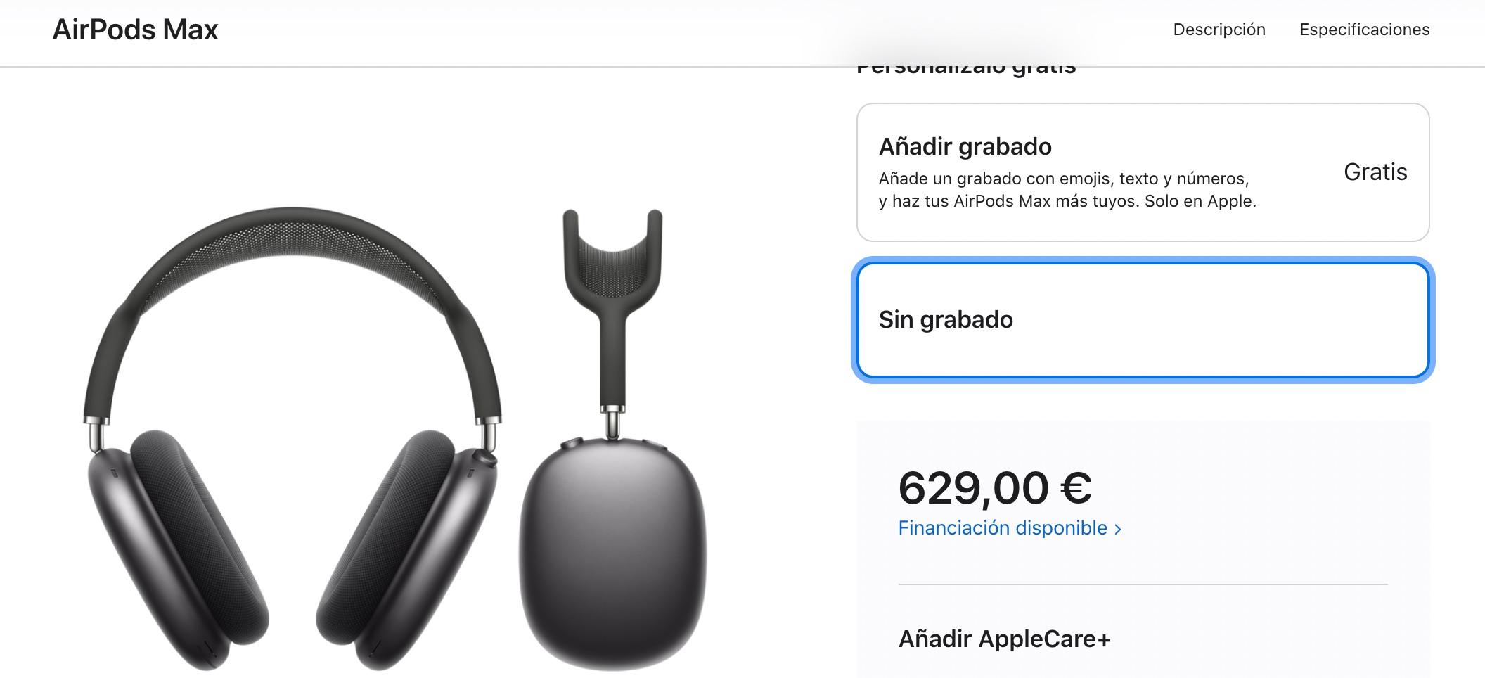 AirPods Max sin cambio de precio