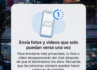 Aviso de fotos o vídeos que puedes enviar y que desaparecen tras visualizarse en WhatsApp