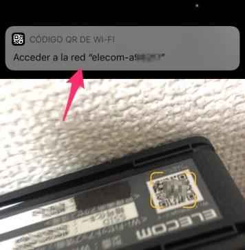 Escaneando un código QR para acceder a una red Wi-Fi automáticamente