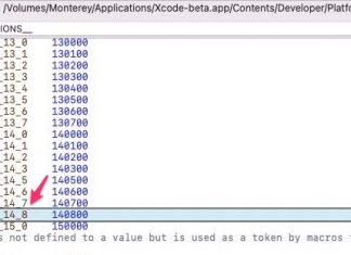 Mención a iOS 14.8 en Xcode 13 beta 4