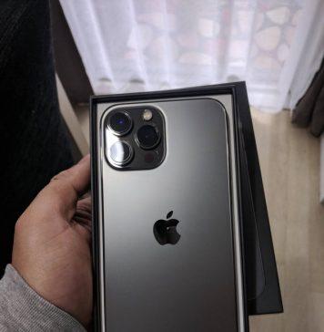 iPhone 13 Pro color grafito que llega en el día del lanzamiento