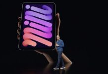 Tim Cook presentando el iPad mini 6 con diseño todo pantalla