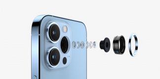 Lente ultra gran angular del iPhone 13 con modo macro