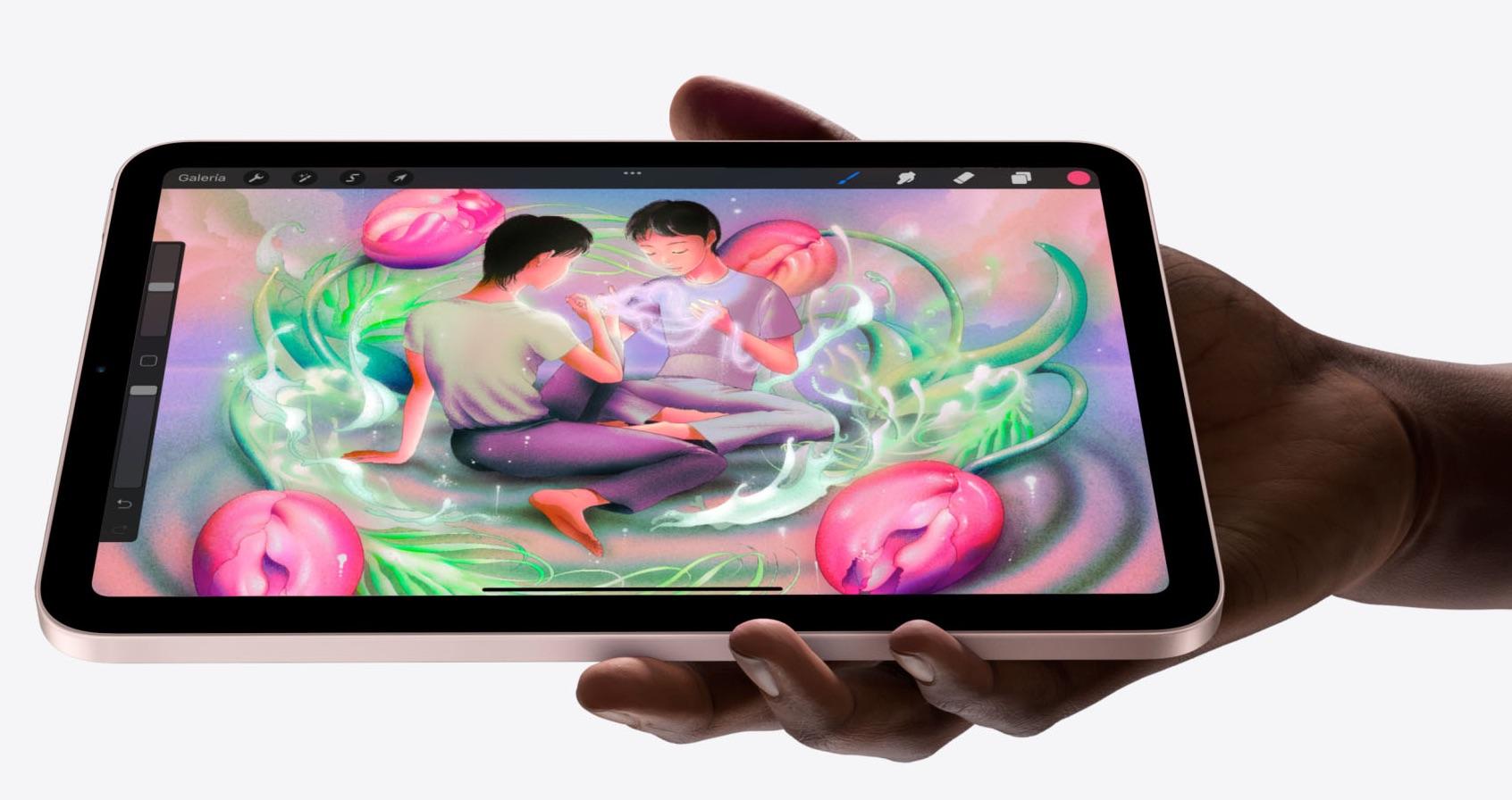 iPad mini de sexta generación con diseño todo pantalla