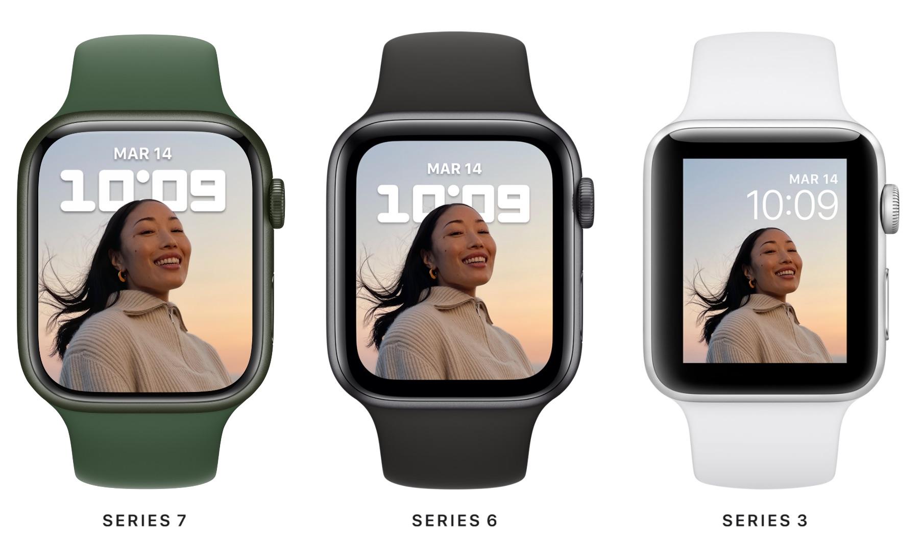 Todos los diseños de Apple Watch desde el Series 3 al Series 7