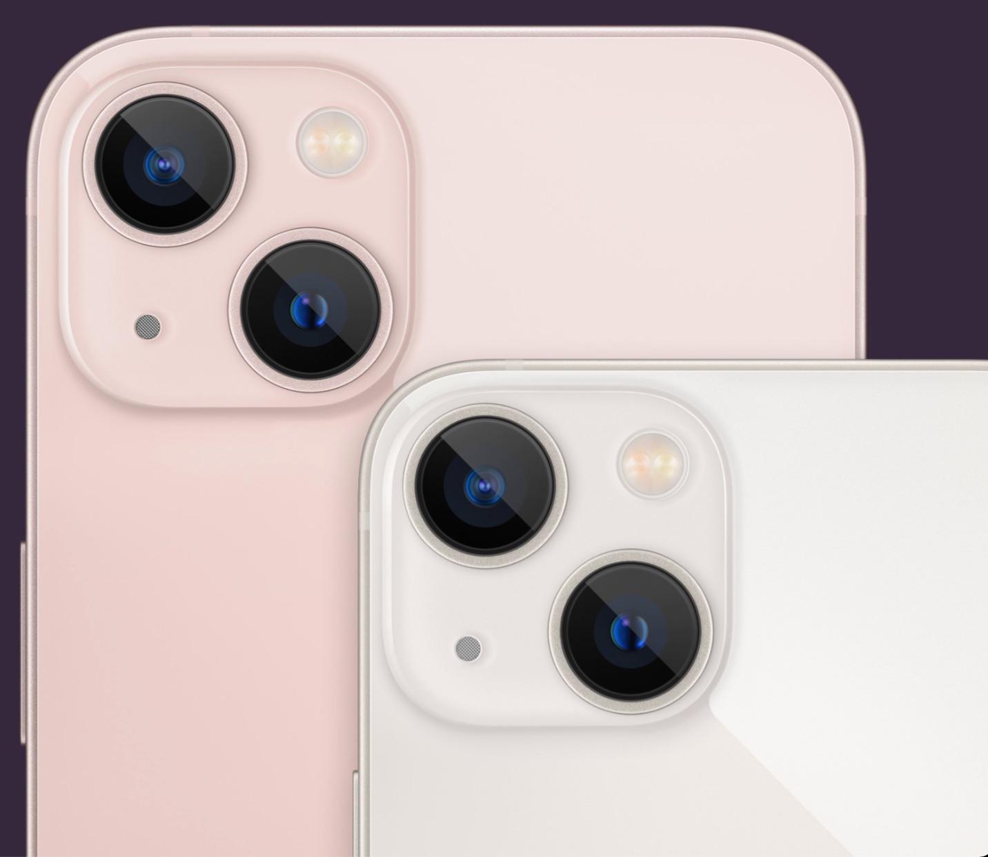 Cámaras traseras del iPhone 13 y iPhone 13 mini