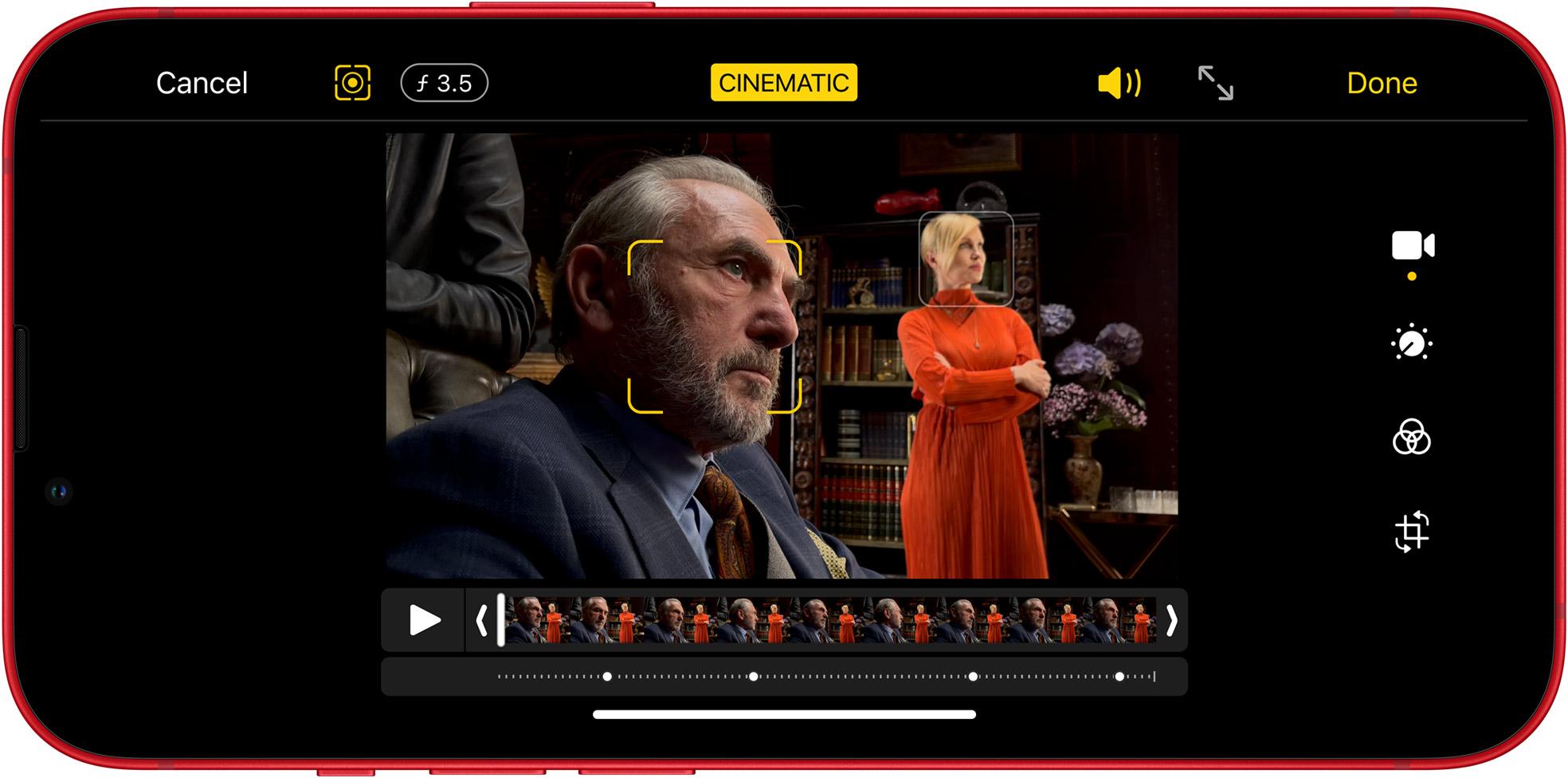 Grabación de vídeo cinemático en el iPhone