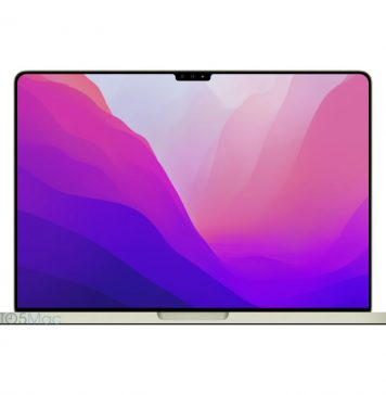 MacBook Pro con pestaña o solapa en la parte superior de la pantalla